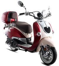 BMS Heritage 150cc 2-Tone Scooter Fully Automtic CVT, EPA/DOT/CARB (99.9% assembled)