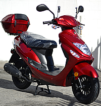 "2020 ""Beemer-50"" 49cc Moped Scooter w/ Remote Start, Alarm System, Windshield, USB Port, Rear Trunk. 99% Assembled, Street Legal. Free shipping to your door, free scooter helmet, 1 year bumper to bumper warranty."