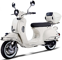 2021 150cc Scooter BELLAGIO-150 with LED light, USB Port, White Wall Tires, optional remote start and anti-theft security system. EPA/DOT/CARB, 99.9% assembled. Free shipping to your door, free helmet and 1 year bumper to bumper warranty.