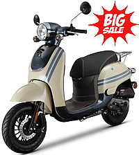 2020 CITI-50 Moped Scooter with Remote Start, Security Alarm, Rear Trunk w/ Backrest, USB Port, EPA/DOT/CARB, 99% Assembled. Free shipping to door, free helmet and 1 year bumper to bumper warranty.