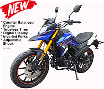 "DB-47-250 Dual Sport 250cc Enduro Bike CR250 Motorcycle Air Cooled Counter-Balanced Engine, Manual 5 Speed, Dual Disc Brakes, Inverted Forks, Adjustable Rear Shock, 17"" Tubeless Street Tires, 70mph. Free shipping to your door. Free helmet. 1 year warranty"
