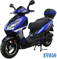 """TaoTao EVO 50 Scooter Moped with 12"""" Big Tires, Aluminum Rims,100% Street Legal. Free shipping to your door with a free helmet. i year warranty."""
