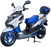 "CARB Approved TAOTAO 150cc Sporty Scooter Galaxy 150 upgraded Lancer150 with 13"" Big Tires. Free shipping to door, free lift-gate service, free helmet, free 1-year bumper to bumper warranty."