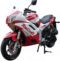 "95% Assembled ROKETA 150cc Street Sport Bike Fully Automatic CVT, Dual Disc Brake, Air Shock Absorber, 13"" Tires MC-06-150, free shipping to your door, free helmet, 1 year bumper to bumper warranty."