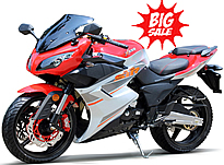 """Fully assembled 2018 NEW 250cc Big Sport Bike Motorcycle Air Cooled, Manual 5 Speed, Dual Disc Brakes, 17"""" DOT Street Tires (MC-165-250). Free shipping to your door. Free helmet. 1 year warranty."""