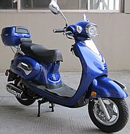 "ROKETA 50cc VINTAGE-50 Scooter Fully Automatic, 10"" Tires, Front Disc Brake (MC-17-50). ROKETA 50cc VINTAGE-50 Scooter Fully Automatic, 10"" Tires, Front Disc Brake (MC-17-50)"