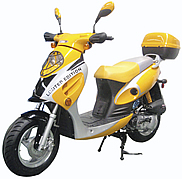 "ROKETA 50cc 2 Stroke ""Limited Edition"" Moped Scooter with 12"" big tires, MC-T07-12. Free shipping to door with a free scooter helmet. 12 months bumper to bumper warranty."