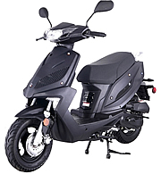 """New Speedy 50"" TaoTao 50cc Moped Scooter with LED Lights, Large Disc Brake, Optional Replacement Body Kit. Free shipping to your door, free helmet, 1 year bumper to bumper warranty."