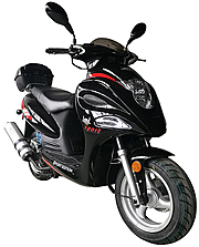 """ICE BEAR """"Falcon"""" 150cc Moped Scooter Fully Automatic CVT, LED Lights, 12"""" Tires (PMZ150-15), free shipping to your door with a free helmet."""
