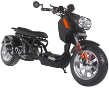 """ICE BEAR """"GEN IV MADDOG"""" 150cc Scooter Street Bike with HID Headlights, LED Turn Signals & Tailight, Digital Dash, Upgraded Suspension/Muffler/Wheel Fenders/Tires/Seat/Mirrors PMZ150-21, FREE SHIPPING TO YOUR DOOR"""