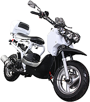 "NEW! ICE BEAR ""BANDIT"" 150cc Moped Scooter with 12"" Big Tires Fully Automatic Free Rear Trunk (PMZ150-8), free shipping to your door with a free helmet."