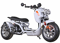"ICE BEAR ""GEN IV MADDOG"" 50cc Scooter Street Bike with HID Headlights, LED Turn Signals & Tailight, Digital Dash, Upgraded Suspension/Muffler/Wheel Fenders/Tires/Seat/Mirrors (PMZ50-21), FREE SHIPPING TO YOUR DOOR"