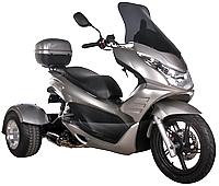 "Ice Bear ""Q6"" 150cc FULL SIZE Motor Trike Scooter PST150-17 w/ Windshield & 14"" Tire"