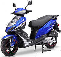 "2020 BMS Prestige 150cc Scooter with Triple Halogen Headlights, LED Tailight, Dual Layer 13"" DURO Sport Tires, Dual Shock Suspension, ABS Front Brake, Stainless Steel Nuts and Bolts, Detachable Rear Trunk. Free shipping to your door, free scooter helmet."