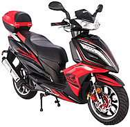 "CARB Approved TAOTAO 150cc Scooter QUANTUM 150 with LED Light, Digital speedometer, 13"" Big Tires, Sport Wheels. Free shipping to door, free lift-gate service, free helmet, free 1-year bumper to bumper warranty."