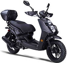 "2020 Amigo 150cc Scooter JAX 150 with Hand-guards, USB Port, Dual Halogen Headlights, LED Tailight and Turn Signals, Dual Layer 13"" DURO Knobby Sport Tires, Dual Disc Brakes, Dual Suspension, Rear Trunk. 99.9% Assembled. Free shipping to door, free helmet"
