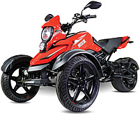 """CARB Approved Saber 200cc Motor Trike Automatic w/ Reverse, 14"""" Big Tires, Front & Rear Disc Brakes, Digital Dash, Extra LED Light, 99.9% Assembled! Street legal in all 50 States! Free shipping to door, free helmet, 1 year bumper to bumper warranty."""