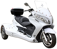 "2020 ICE BEAR Jumbo Sized 300cc Motor Trike ""ZODIAC-300 EFI"" Electronic Fuel Injection Engine, Automatic with Reverse, Rear Differential (PST300-19), optional full assembly and test. 1 year bumper to bumper warranty. Free shipping to your door"
