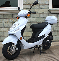 "99% Assembled ""Beemer-50"" 49cc MOPED SCOOTER with Remote Start, Anti-theft Alarm System, USB Port, Rear Trunk. 100% Street Legal. Free shipping to your door, free scooter helmet, 1 year bumper to bumper warranty."