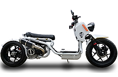 "ICE BEAR ""GEN V MADDOG"" 50cc Scooter Street Bike with 14"" big tires, HID Headlights, LED Turn Signals & Tailight, Digital Dash, Upgraded Suspension/Muffler/Wheel Fenders/Tires/Seat/Mirrors (PMZ50-22), FREE SHIPPING TO YOUR DOOR"